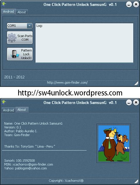 one click pattern unlock samsung v0.1